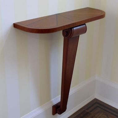 Custom Made Hand Carved Mahogany Entry Table In Harrison, Ny