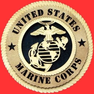 Custom Made Marine Corps Wall Tribute 3d Wood, Marine Hand Made Gift