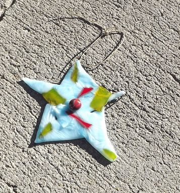 Custom Made Fused Glass Christmas Star Ornament