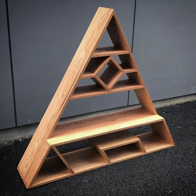 Custom Made Triangle Floor Shelf
