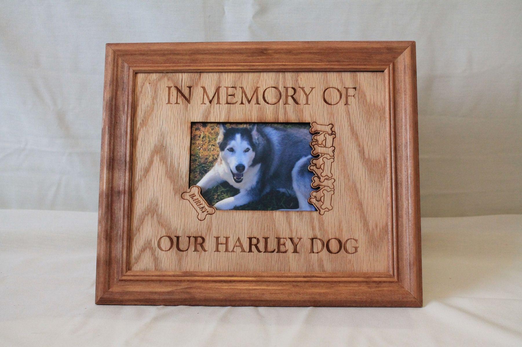 Handmade Pet Memorial Frames by Treasure Coast Engraving ...