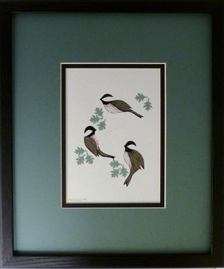 Custom Made Blue Herons -  Quilled Framed Wall Art New Hampshire Herons