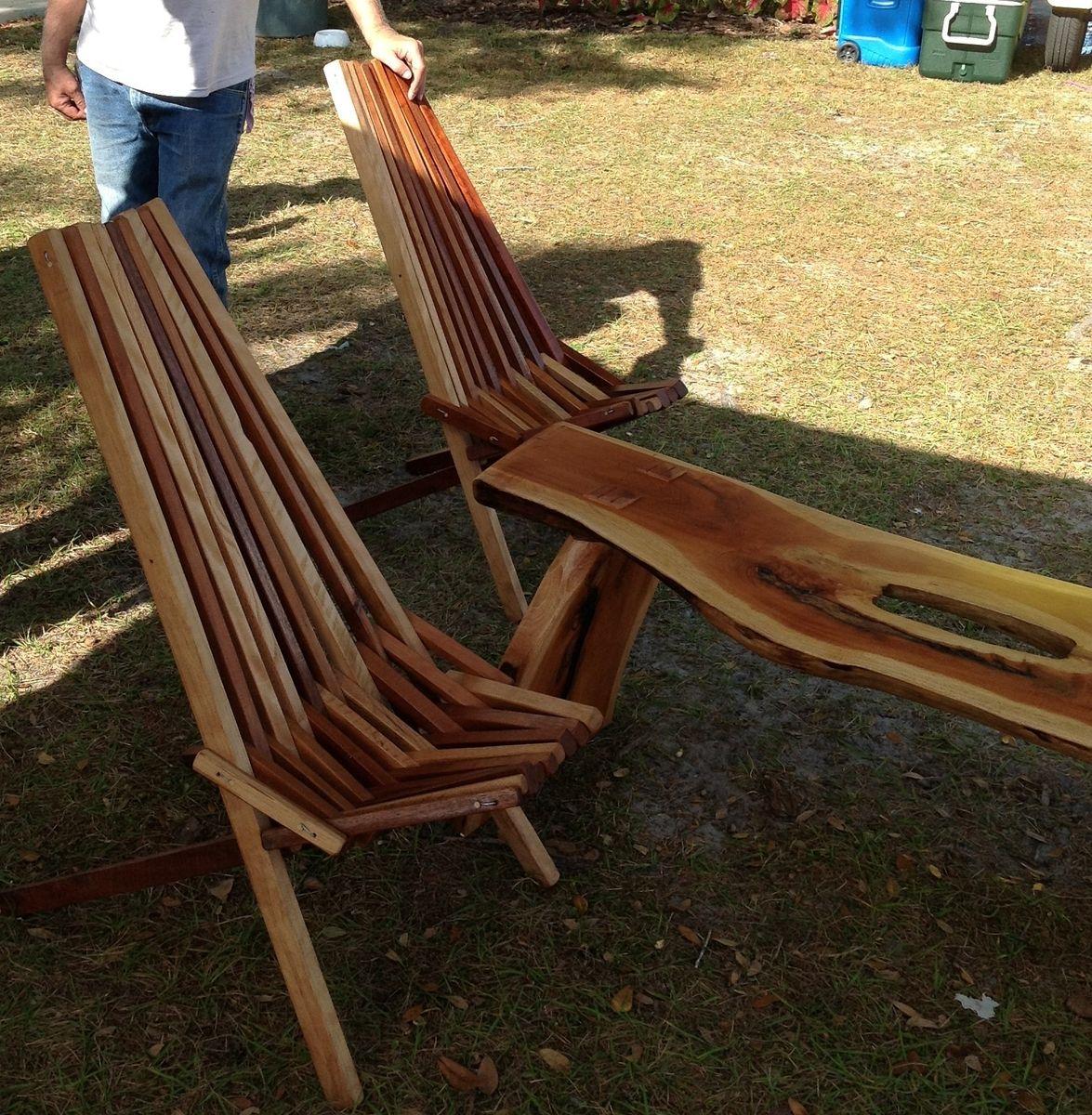 Custom Indoor Outdoor Wooden Slat Chair
