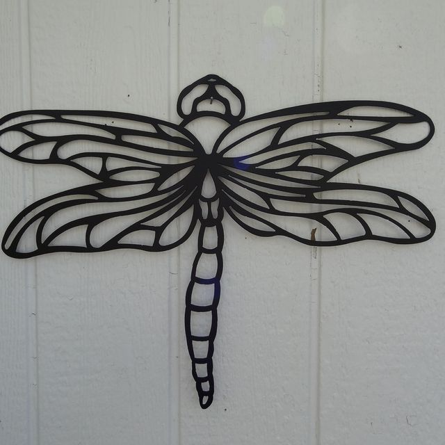 custom dragonfly 2ft metal wall art home garden kitchen decor
