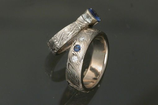 Custom Made 14k Palladium White Gold Wedding Set