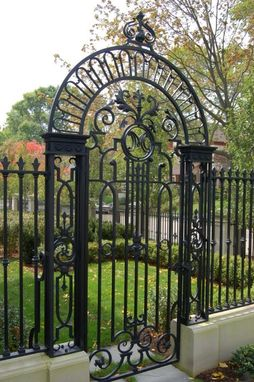 Custom Made Custom Wrought Iron Gate