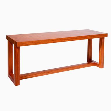 Custom Made Solid Jatoba Wood Bench