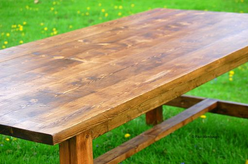 Custom Made Rustic Farmhouse Dining Room Table