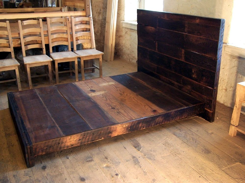 Buy a Hand Made Asian Style Low Platform Bed From Reclaimed Wood ...