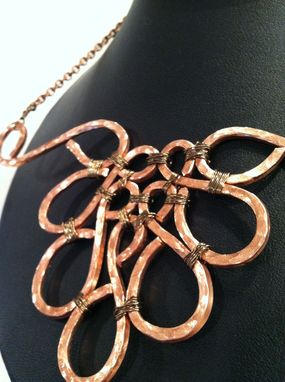 Custom Made Hand Hammered Copper Wire Necklace