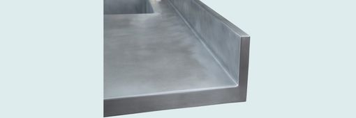 Custom Made Zinc Countertop With Integral Sink & Backsplash