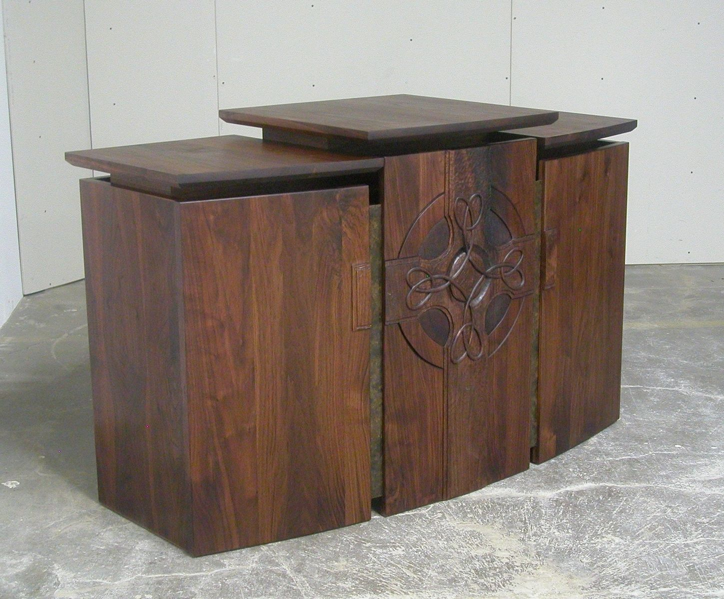 Hand Crafted Communion Table And Pulpit For Church In
