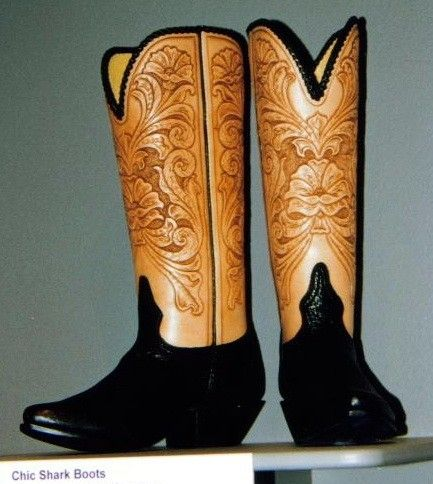 Custom Hand Tooled Cowboy Boots by Leroux Territory 66 ...