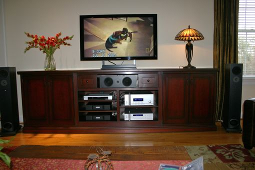 Custom Made T V Console Cabinet