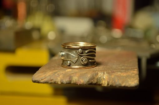 Custom Made Squid Ring With Moonstone And Diamond