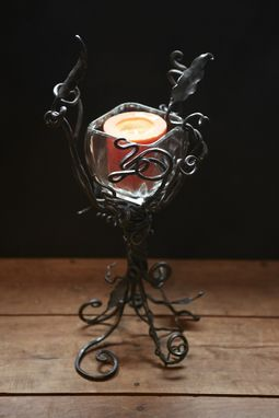 Custom Made Hand Forged Iron- Decorative Candle Holder