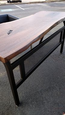Custom Made Walnut Live Edge Desk (Sold)