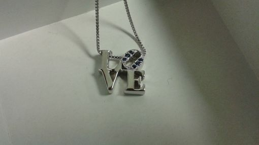 Custom Made Love Park Necklace In Sterling Silver