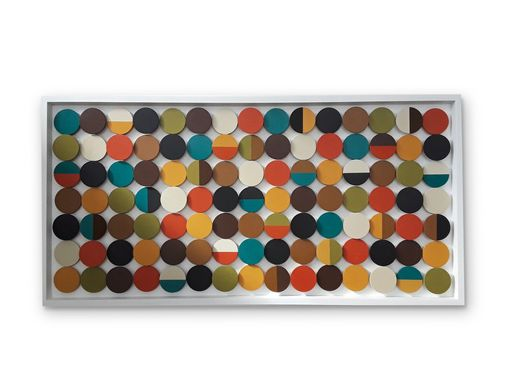 Custom Made Geometric Wall Art, Abstract Circles Mid-Century Modern