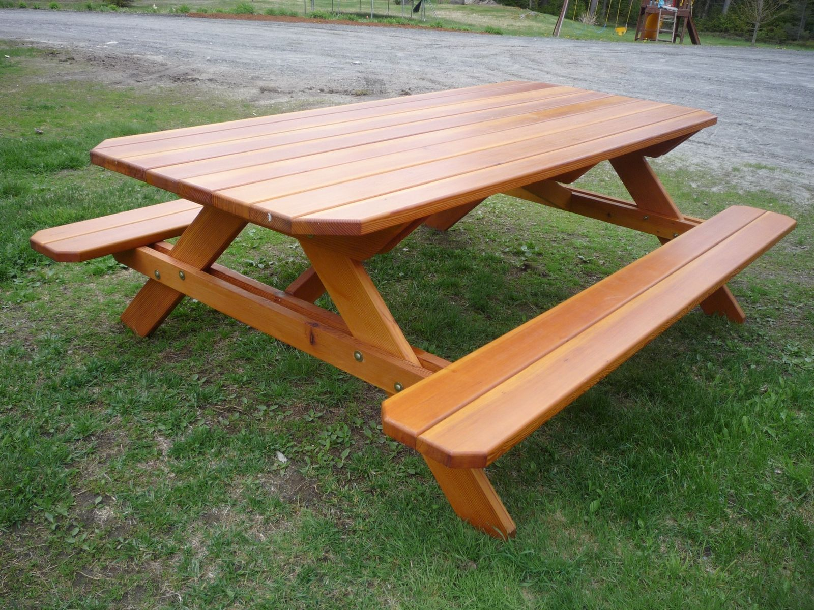 hand crafted picnic table by stratton custom woodworking corporation. Black Bedroom Furniture Sets. Home Design Ideas