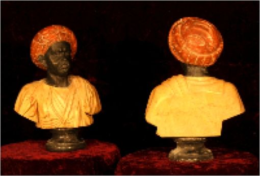 Custom Made Marble Bust Of An African Man