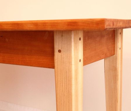 Custom Made Hard Maple And Cherry Sofa Table