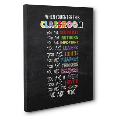 Custom Made In This Classroom Canvas Wall Art