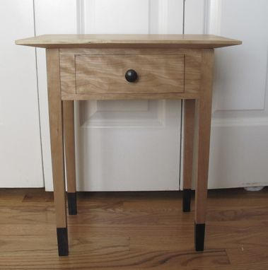 Custom Made Small Night Stand Curly Cherry And Ebony