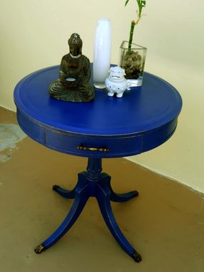 Custom Made The Round Blue Table