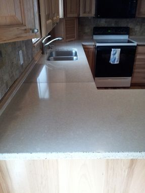 Custom Made White Concrete Countertops