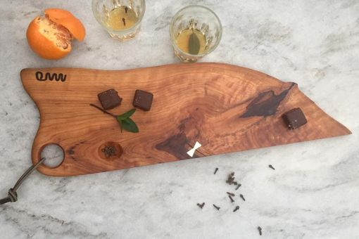 Custom Made Solid Wood Cutting Or Serving Board, Charcuterie, Bread, Cheese