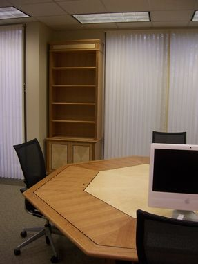 Custom Made Conference Table And Bookcases