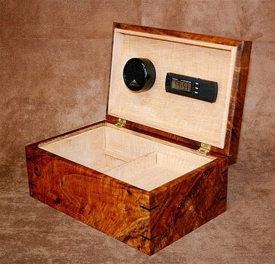 Custom Made Figured Koa/ Spalted Maple Humidor