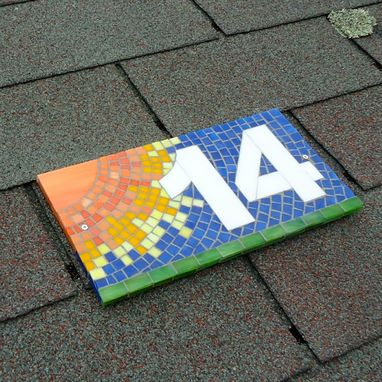 Custom Made Decorative Mosaic Sun House Number