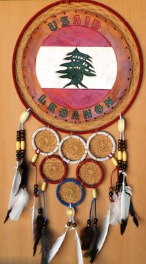 Custom Made Usaid/Lebanon Dreamcatcher