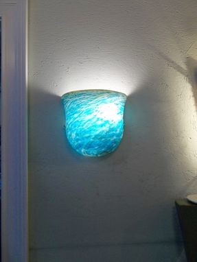 Custom Made Hand Blown Art Glass Wall Sconce Lighting
