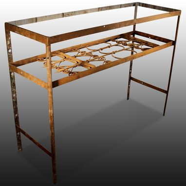Custom Made Wrought Iron Console Table Hawa