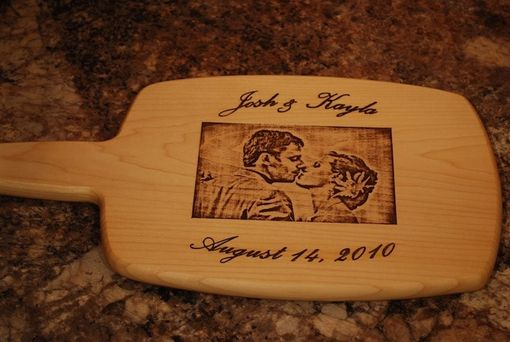 Custom Made Custom Wedding Photo Cutting Board - Personalized With Your Photo