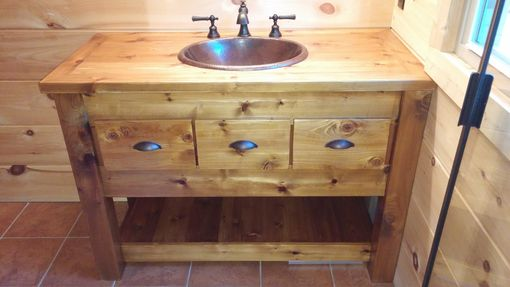 Custom Made Rustic Bath Vanity