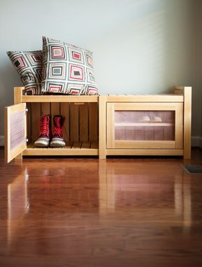 Custom Made Boots And Shoes Storage Bench