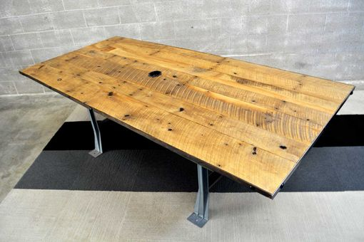 Custom Made Reclaimed Oak Conference Table