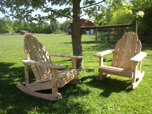 Custom Made Adirondack Cedar Rockers