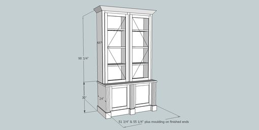 Custom Made Matching Built-In Bookcases