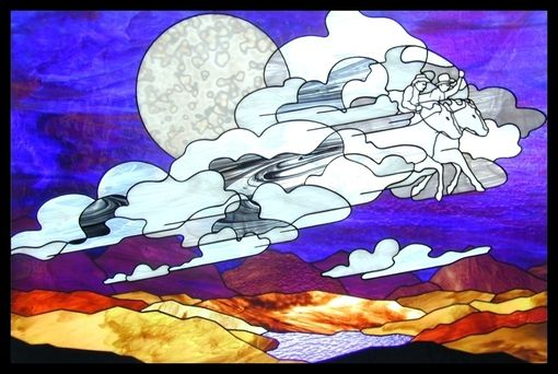 Custom Made Ghost Riders In The Sky - Cowboy Themed Stained Glass