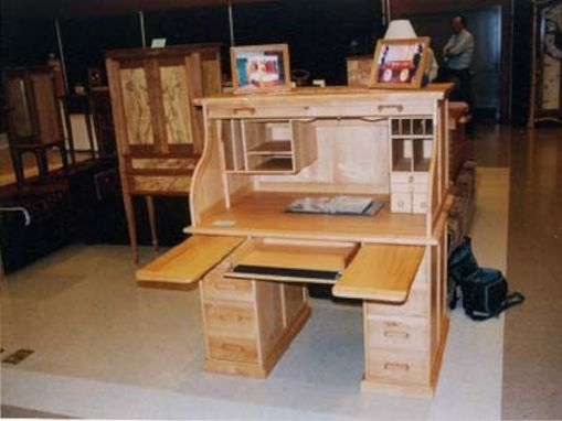 Custom Made Custom Oak Roll Top Desk