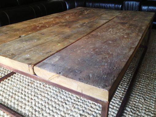 Custom Made Industrial-Style Coffee Table