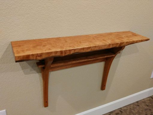 Custom Made Short Wall Mounted Hall Table