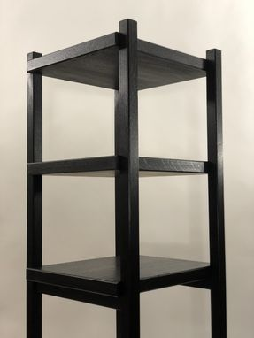 Custom Made Standing Shelves In Quartersawn Ebonized Oak