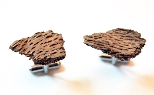 Custom Made Rustic Bark Cufflinks