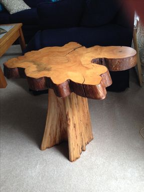 Custom Made Cypress Accent Table